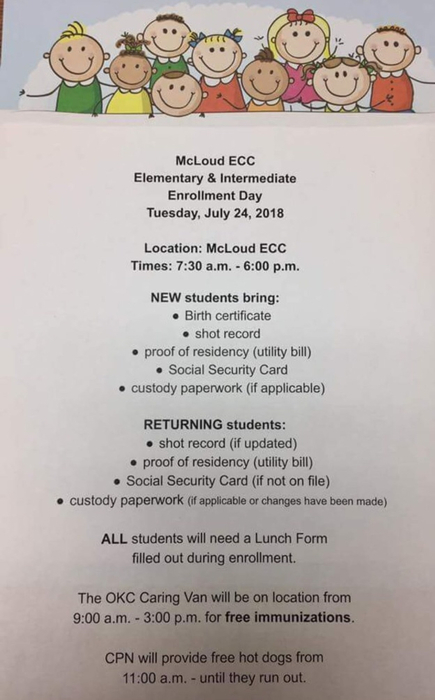 Elementary enrollment is Tuesday, July 24, 2018.  We are looking forward to the new year!