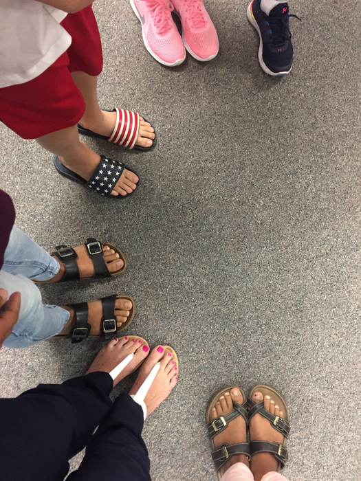 What does shoes have to do with learning science?  Ask your 4th grader about classification. What do these have in common and how can they be split into more groups?