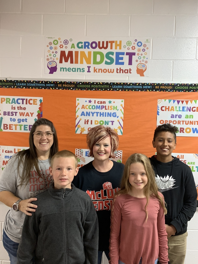Redskin Pride Students of the Month for September