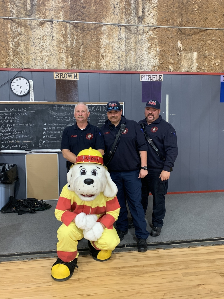 McLoud Fire Dept and Sparky