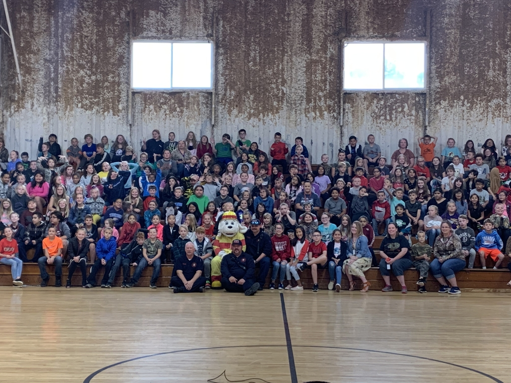 McLoud Fire Dept, Sparky, and McLoud Intermediate Students