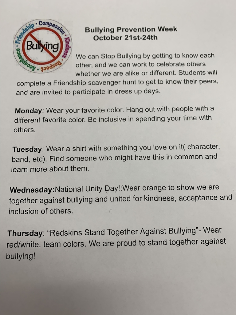 Bullying Prevention Week activities